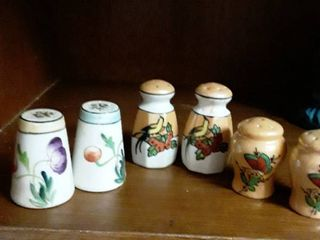 3 Sets of JAPAN Salt and Pepper Shakers  Hand painted