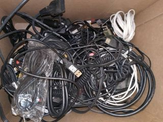Assorted Electronic Cords and Cables