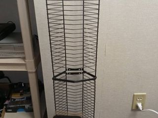 Black Wire DVD Storage Rack Approximately 40 in Tall with Car Visor CD Holder