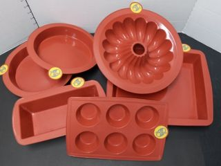 Smart Ware Silicone Baking Pans 7 Pieces