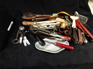 Another lot of Miscellaneous Kitchen Utensils  Some are Vintage