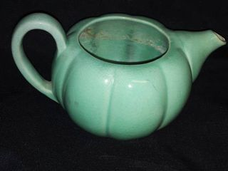 Red Wing 235 Green Colored Ceramic Tea Pot
