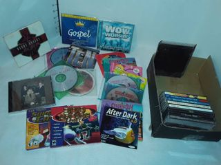 lot of Music CDs and Computer Games CDs