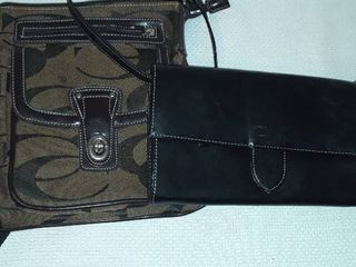 Coach Cross Body Bag   NOT a real Coach  and a Mary Kay Receipt Book