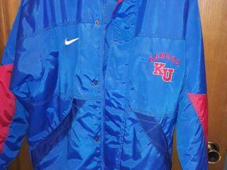 KU Team Nike Coat  Size large  VERY NICE