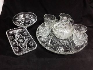 lot of 10 pcs  Star of David Glass  The platter is approximately 13 5 in