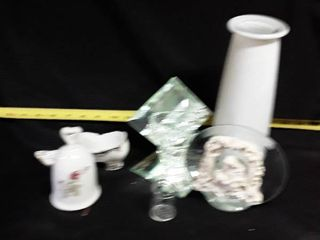 lot of Miscellaneous Glass  Candle Holders and other items