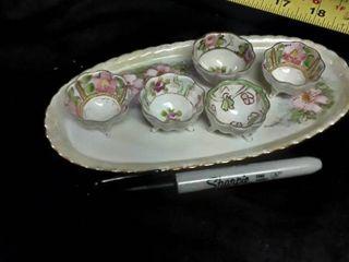 6 pcs  Miniature Tea Set