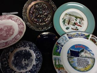 Collectable Plates  Some Wedgewood  Fenton  Carnival Glass  Homer laughlin  AVON and IAAC Ceramics