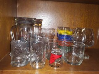 lot of Miscellaneous Drinking Glasses
