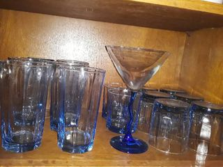 Another lot of Drinking Glasses  This Set is Blue