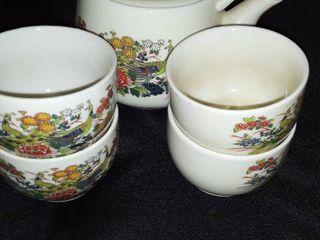 6 pcs  Oriental Tea Set