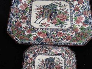 6 pcs  Oriental Plate and Platter Set