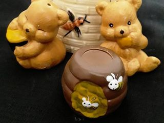 Bear and Honey Salt and Pepper Shakers