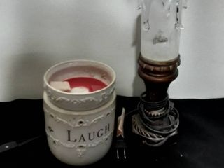 Candle Wax Warmer and Small lamp  Yes both WORK
