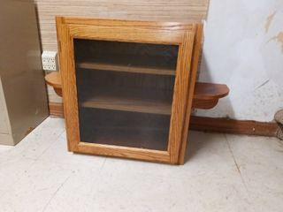 Wood and Glass Cabinet 24 x 38 x 14 in