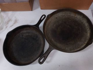 Griswold 8 in Cast Iron Skillet with 10 in Cast Iron Skillet