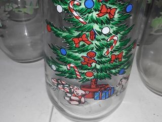 7 Christmas Drinking Glasses and Water Container