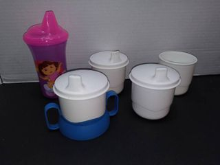 Tupperware Vintage Sippy Cups with Dora the Explorer Sippy Cup