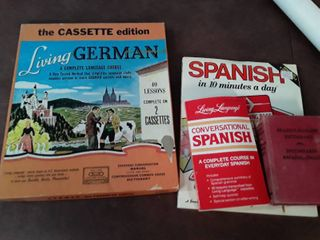learn to Speak Spanish and German  Books and Cassette Tapes