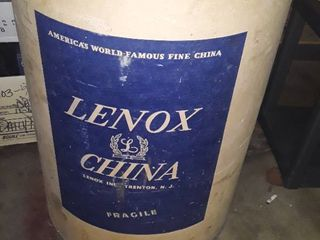 Another large Barrel with a lid  This one is from lennox China Co