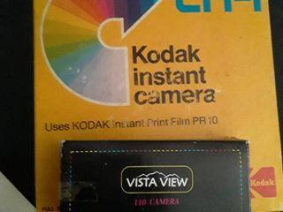 Kodak EK4 Instant Camera and a Vista Vuew 110