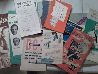 Old Vintage Post Cards and Miscellaneous Items from Hawaii