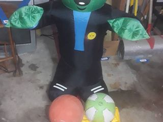 3 Basketballs  air pump  baby float  and blow up Baby Frankenstein  He stands approximately 4 ft  tall
