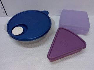 Tupperware To Go lunch Containers with lids lot of 3