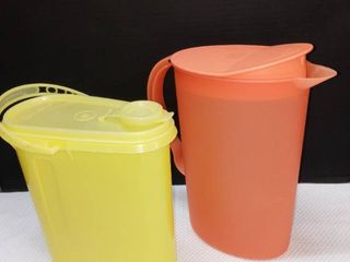 Tupperware Pitchers lot of 2