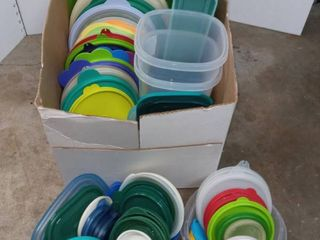 Tupperware and Various Unmatched lids with a Couple of Containers