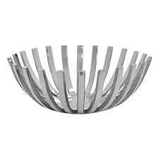 Merha Metal Decorative Bowl in Silver