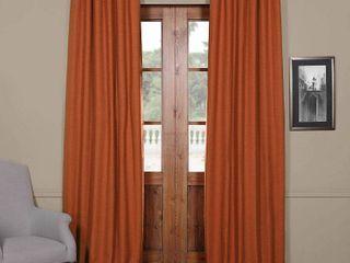 PAIR OF Exclusive Fabrics Persimmon Bellino Blackout Curtain Panels
