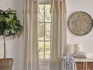 PAIR OF 108 x50  Drop Cloth light Filtering Curtain Panel linen   Mercantile