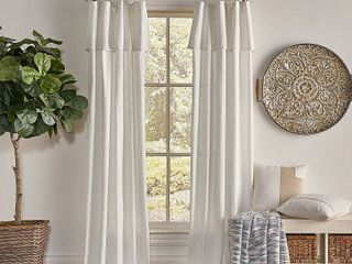 PAIR OF 108 x50  Drop Cloth light Filtering Curtain Panel Off White   Mercantile