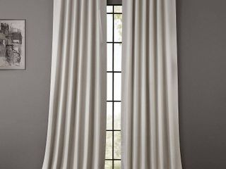 PAIR OF Exclusive Fabrics   Furnishings Blackout 50  x 120  Curtain Panel
