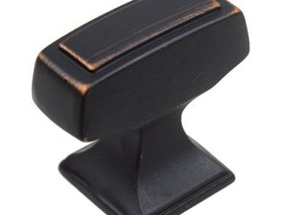 GlideRite 5 Pk 1 1 8 x 1 2 in  Oil Rubbed Bronze Transitional Rectangle Cabinet Knobs   Oil Rubbed Bronze