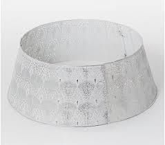 Inspire Me  Home Decor Pierced Decorative Tree Collar Pearl White