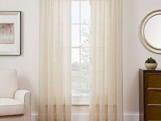 PAIR OF Sharper Image Sonoma 53  x 108  Rod Pocket Window Panel