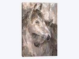 iCanvas Tender Farmhouse Horse by Debi Coules Canvas Print