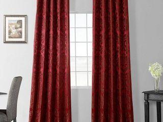 Pair of Exclusive Fabrics Astoria Red  Bronze Faux Silk Jacquard Curtains