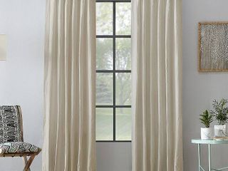 PAIR OF Archaeo 52  x 95  Washed Cotton Twist Tab Curtain