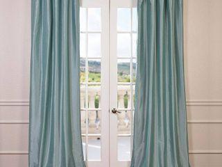 PAIR OF Exclusive Fabrics   Furnishings Blackout Taffeta 50  x 108  Curtain Panel