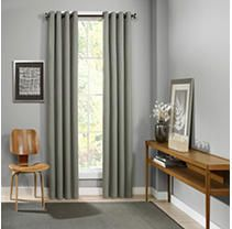 PAIR OF Eclipse Palisade Blackout Grommet Window Curtain Panel