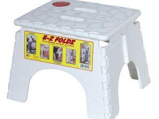 B R Plastics 101 6W 9  X 11 5  White EZ Folds Folding Step Stool