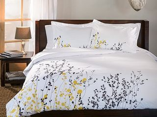 FUll  QUEEN Miranda Haus Reed 3 piece Cotton Duvet Cover Set