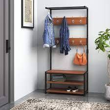 Ulen Freestanding Valet Stand Color  Coffee