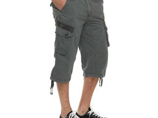 XRAY Mens Belted Classic Cotton Cargo Shorts 18 Inch Inseam