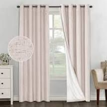 PAIR OF PrimeBeau linen Blended 100  Blackout Waterproof Coating Themal Insulated Curtains