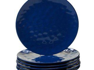 Certified International Solid Cobalt Blue Dinner Plates  Set of 6